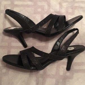 Dressy glittery black heels
